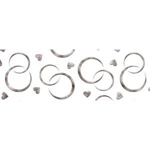Kartonpapír - Esküvői ezüst karikagyűrű mintás kartonpapír, 20 gr. A4 - 1 lap