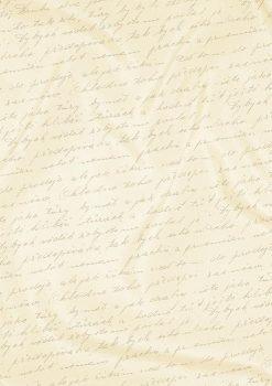 Kartonpapír - Esküvői Starlight karton, arany és krém kézírás mintás metál karton, A4 - 25 lap