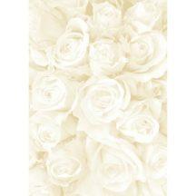 Kartonpapír - Esküvői Starlight karton, Nagy krém és arany rózsa mintás design karton - 25 lap