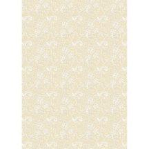 Kartonpapír - Esküvői Starlight ornament mintás arany és krém design karton, A4 - 25 lap