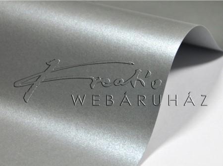 Metál fényű papír - Mélyezüst színű metál-fényű fényű MagnaMet karton papír 220g Kétoldalas - 5 lap