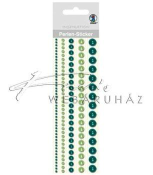 Zöld színű dekorgyöngyökök