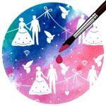 Kartonpapír, színváltós varázspa- Esküvői, varázslatos színváltós design karton, 250 gr., A4 - 1 lap