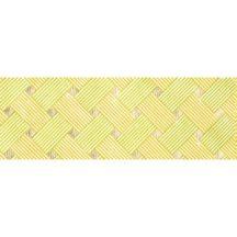 Dekorpapír - India style Hena 03 motívum, kézzel készített  papír, zöld-sárga