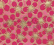 Dekorpapír - India style Rashmika 04 motívum, kézzel készített  papír, Rózsaszín-arany