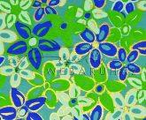 Dekorpapír - India style Garja 01 motívum, kézzel készített  papír, kékes virágminta