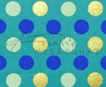Dekorpapír - India style Garja 02 motívum, kézzel készített  papír, kékes és arany