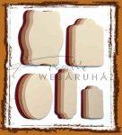 Színes címkék - Csokoládé, dohány, türkiz, pink színű címkék - Világoskék, pink, barna