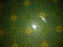Transzparens papír - Arab mintás, zöld színű