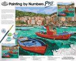 Óriási méretű kifestő készlet profiknak - 51x41cm festőtábla, 2 színű akril festékkészlet, számozott kifestő