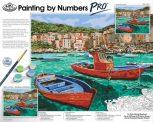 Óriási méretű kifestő készlet profiknak - 51x41cm festőtábla, festékkészlettel, számozott kifestő