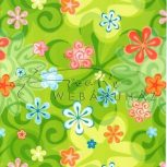Virágos mintás kartonpapír