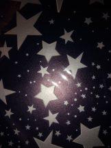 Transzparens papír - Kék-ezüst színű csillag mintás