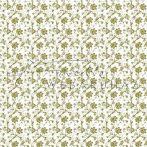 Design Papír - Óarany virágos - fehér színű, gyöngyház fényű papír 120gr