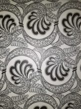 Transzparens papír - Fekete- Fehér Ornament