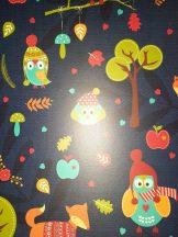 Kartonpapír - Őszi állat mintás Karton, 300gr