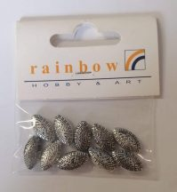Ovális ezüst színű gyöngyök