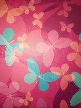 Transzparens papír - Pink színű, retro pillangó