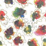 Selyempapír - Akvarell virágok