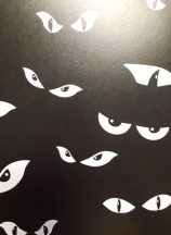 Szem, fekete Halloween karton