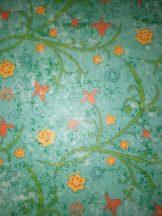 Transzparens papír - Tulipán, türkiz mintás