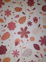 Kartonpapír - Virág mintás, karton, 1 lap